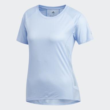 Playera 25/7 Rise Up N Run Parley Azul Mujer Running