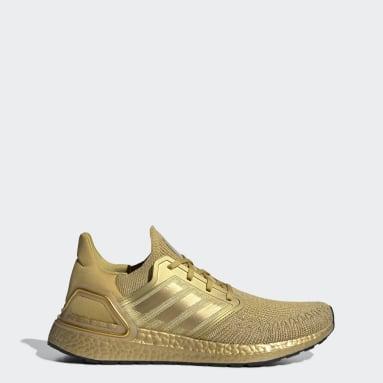 Men Running Gold Ultraboost 20 Shoes