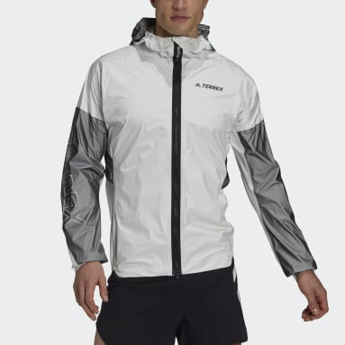 Men TERREX White Terrex Agravic Pro RAIN.RDY Trail Running Jacket