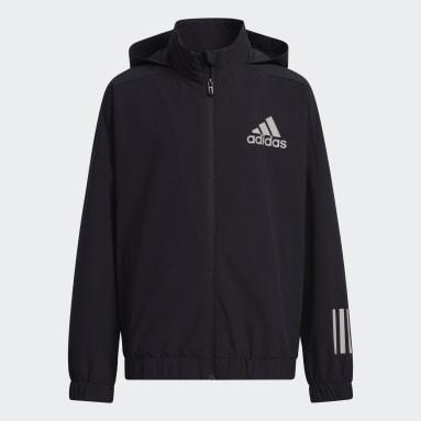 Boys Lifestyle Black Street Woven Jacket