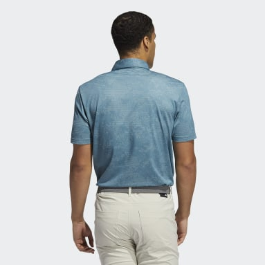 Men Golf Turquoise Camo Polo Shirt