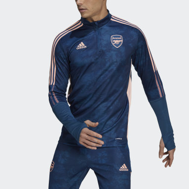Men Football Blue Arsenal Graphic Track Top