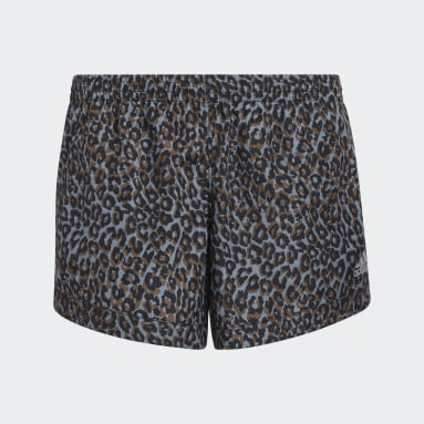 Youth Training Grey Print Woven Shorts
