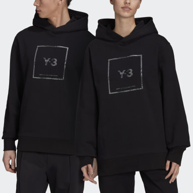 Y-3 Black Y-3 Square Label Graphic Hoodie