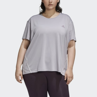 T-shirt Glam-On (Grandes tailles) Gris Femmes Running