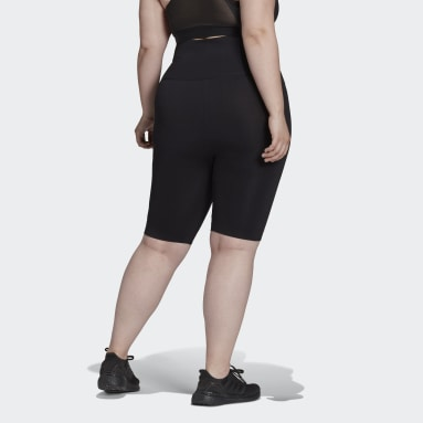 Women's Yoga Black Formotion Sculpt Biker Short Tights (Plus Size)