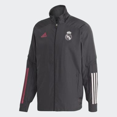 Männer Fußball Real Madrid Präsentationsjacke Grau