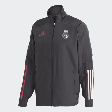 Men Football Grey Real Madrid Presentation Track Top