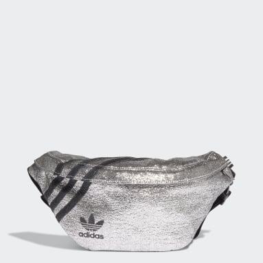 Frauen Originals Bauchtasche Silber