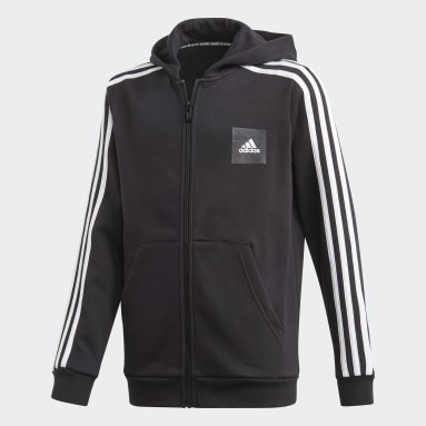 Veste à capuche Must Haves 3-Stripes Noir Garçons Fitness Et Training