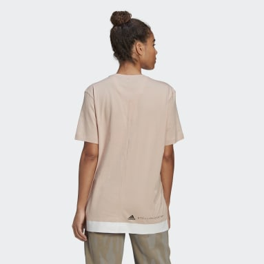 Women adidas by Stella McCartney Pink Cotton Tee
