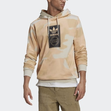 Men's Originals Beige Camo Allover Print Hoodie