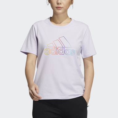 Women Sportswear Purple Badge of Sport Tee