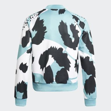 Dievčatá Tréning A Fitnes biela Tepláková bunda AEROREADY Animal Print Warm-Up Zip-Pocket Regular