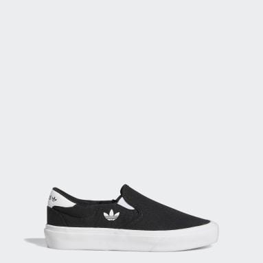 Youth Originals Black Court Rallye Slip Shoes