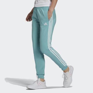 Women's Essentials Green Essentials Single Jersey 3-Stripes Pants