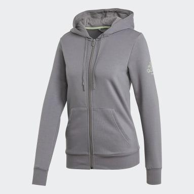 Women's Tennis Grey Club Logo Hoodie