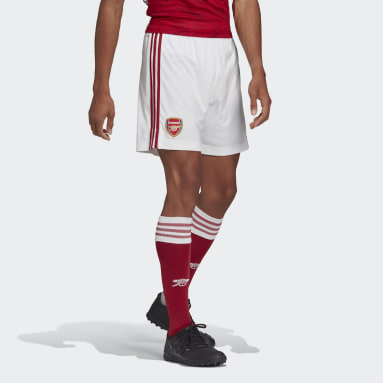 Men Football White Arsenal Home Shorts