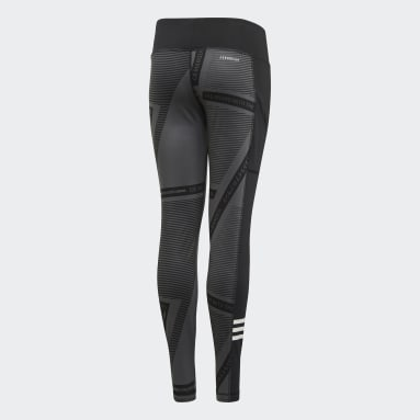 Girls Yoga Grå Branded tights