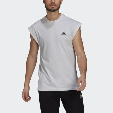 Men Sportswear White adidas Sportswear Sleeveless Tee