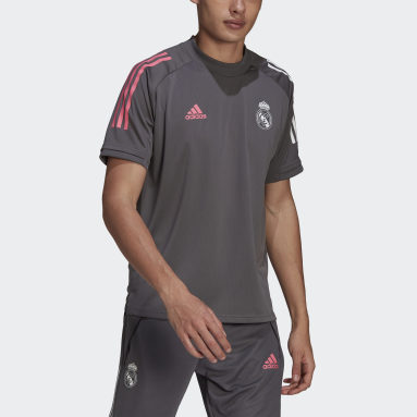 Men Football Grey Real Madrid Training Jersey