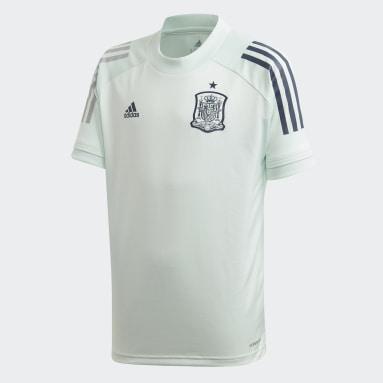Kinder Fußball Spanien Trainingstrikot Grün