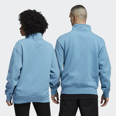 Originals Blue Heavyweight Shmoofoil 1/4 Zip Sweatshirt (Gender Neutral)