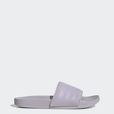 Women Swimming Purple Adilette Comfort Slides