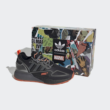 Erkek Originals Siyah ZX 2K Boost Marvel Ayakkabı