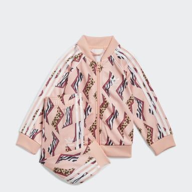 Pantalón y chaqueta Allover Print SST Rosa Niño Originals