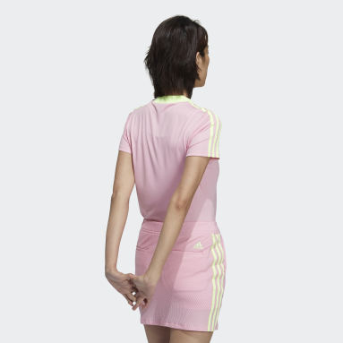 Women Golf Pink 3-Stripes Crew T-Shirt