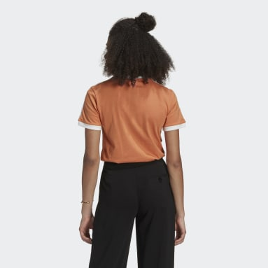 T-shirt Adicolor Classics 3-Stripes Orange Femmes Originals