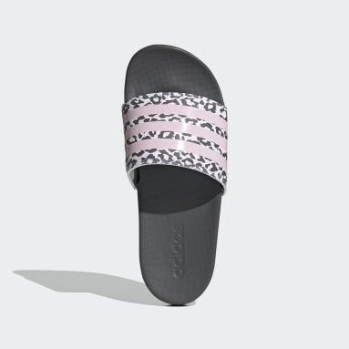 Women Swimming Grey Adilette Comfort Slides