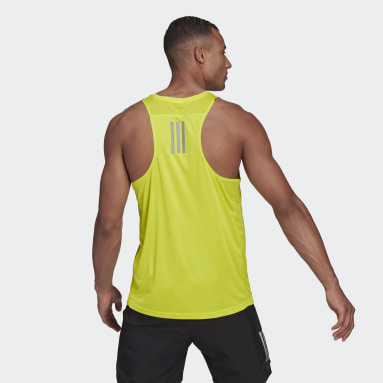 Men Running Yellow Own the Run Singlet