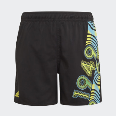 Boys Swimming Black Bold Swim Shorts