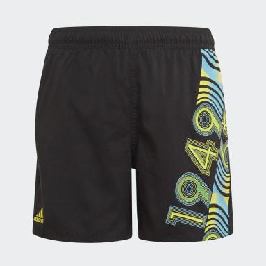 Kids 4-8 Years Swimming Black Bold Swim Shorts