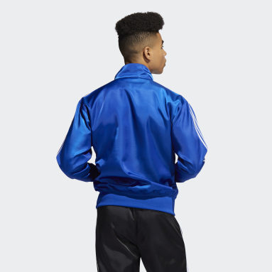 Heren Originals Blauw Satin Firebird Trainingsjack