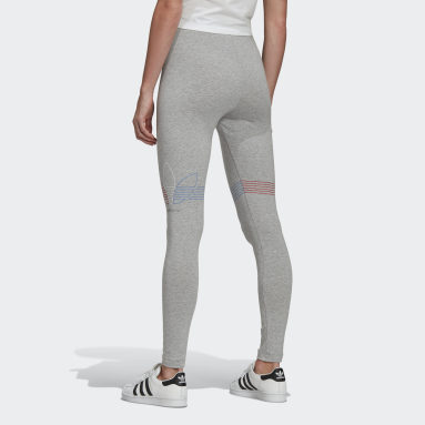 Women Originals Grey LOUNGEWEAR Adicolor Tricolor Tights