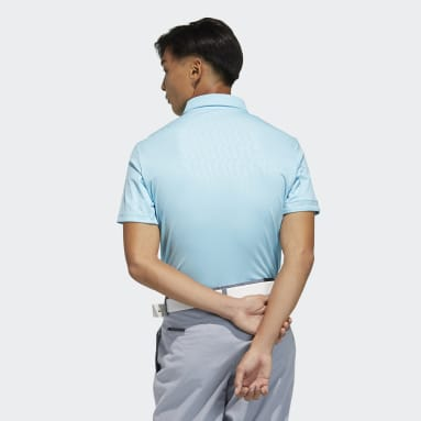 Men Golf Blue Polo Shirt