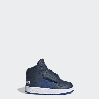 Kids Basketball Blue Hoops 2.0 Mid Shoes
