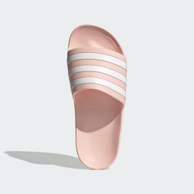 Ženy Plavání růžová Pantofle Adilette Aqua