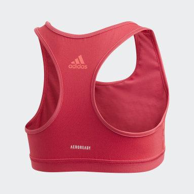Girls Yoga Pink Sports Bra Top