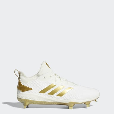 Men's Baseball White Adizero Afterburner V Cleats