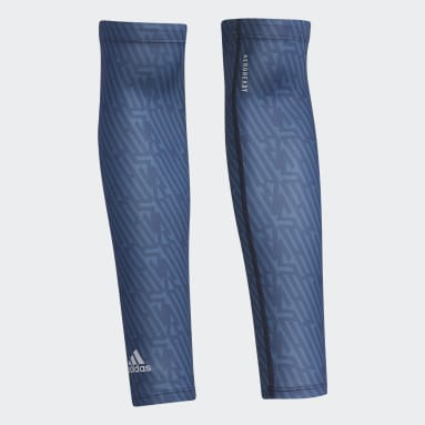 Women Golf Blue UV Graphic Arm Sleeves