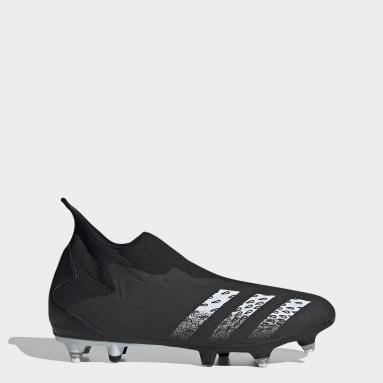Chaussure Predator Freak.3 Laceless Terrain gras Noir Football