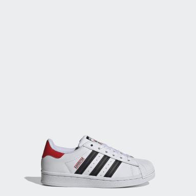 Kids Originals White Superstar Run-DMC Shoes
