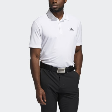 Polo Ultimate365 Solid Left Chest Blanco Hombre Golf