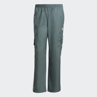 Men Originals Green Adicolor Classics 3-Stripes Cargo Tracksuit Bottoms