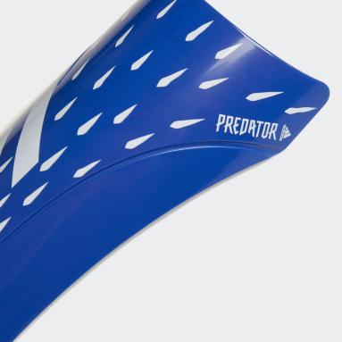Football Blue Predator Club Shin Guards