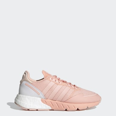Women Originals Pink ZX 1K Boost Shoes